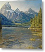 Taggart Lake Shallows Metal Print