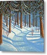 Tahoe Forest In Winter Metal Print