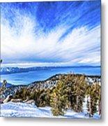 Tahoe From Heavenly Metal Print