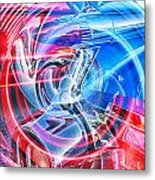 Tail Light Abstract Metal Print