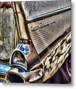 Taillight 1957 Chevy Bel Air Metal Print