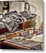 Tailors Work Bench Metal Print