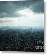 Taipei Under Heavy Clouds Metal Print