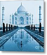Taj Mahal - Agra - India Metal Print