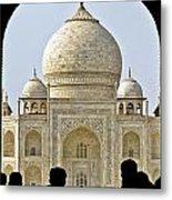 Taj Through The Gates Metal Print