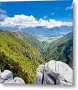 Takaka Hill Limestone Outcrops Takaka Valley In Nz Metal Print