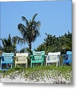 Take A Seat At The Beach Metal Print