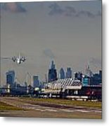 Take Off From London Metal Print