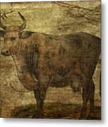 Take The Cow By The Horns Metal Print