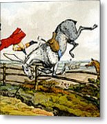 Taking A Tumble From Qualified Horses And Unqualified Riders Metal Print