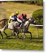 Taking Over - Del Mar Horse Race Metal Print