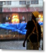 Taking Shelter From The Rain Metal Print
