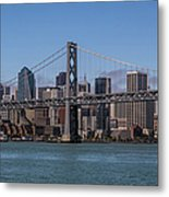 Taking The San Francisco Bay Ferry To Metal Print