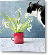Taking Time To Smell The Flowers Metal Print