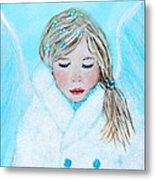Talini Little Snow Angel Bringing Warmth On Cold Days Metal Print