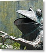 Talking Frog Metal Print