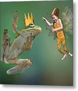 Talking With The Frog King Metal Print