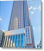 Tall Highrise Buildings In Uptown Charlotte Near Blumental Perfo Metal Print