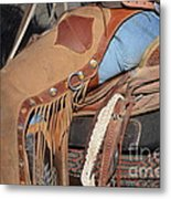Tall In The Saddle II Metal Print