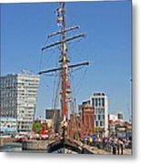 Tall Ship Astrid Metal Print