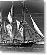 Tall Ship Bw Metal Print