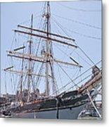 Tall Ship Elissa - Galveston Texas Metal Print