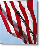 Tall Ship Flag Metal Print