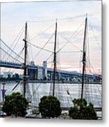 Tall Ship Gazela At Penns Landing Metal Print by Bill Cannon