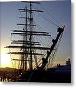Tall Ship In Ibiza Town Metal Print