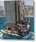 Tall Ship Isla Ebusitania  Metal Print