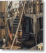 Tall Ship Kalmar Nyckel Ropes Metal Print