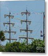 Tall Ship Mast Charleston  Metal Print