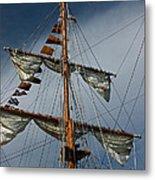 Tall Ship Mast Metal Print by Suzanne Gaff