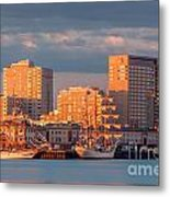 Tall Ships At The Seaport Metal Print