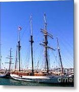 Tall Ships Big Bay Metal Print