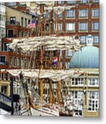 Tall Ships In Boston Metal Print
