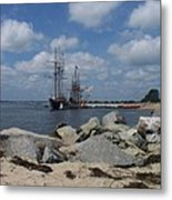 Tall Ships In The Distance Metal Print