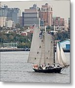 Tall Ships In The Harbor Metal Print