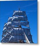 Tall Ships Race In The Ocean, Baie De Metal Print