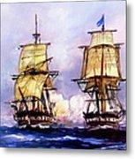 Tall Ships Uss Essex Captures Hms Alert  Metal Print