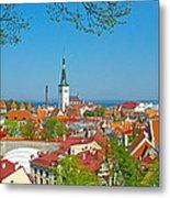 Tallinn From Plaza In Upper Old Town-estonia Metal Print