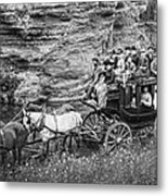 Tallyho Stagecoach Party C. 1889 Metal Print by Daniel Hagerman