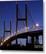 Talmadge Memorial Bridge Savannah Metal Print