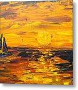 Tamarindo Sailboat Sunset Metal Print