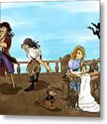 Tammy And The Pirates Metal Print
