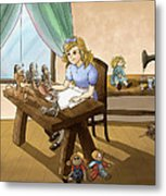 Tammy The Little Doll Girl  Metal Print