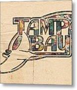 Tampa Bay Rays Poster Art Metal Print