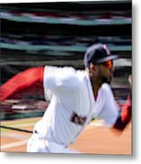Tampa Bay Rays v Boston Red Sox Metal Print