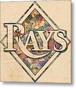 Tampa Bay Rays Vintage Art Metal Print