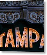 Tampa Theatre Sign 1926 Metal Print
